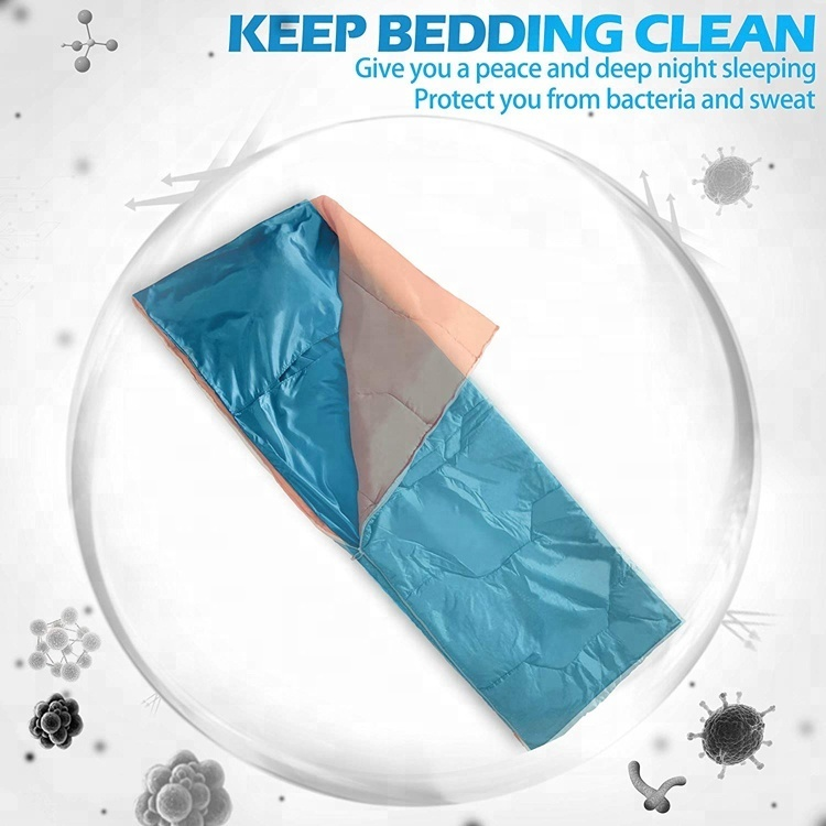 Waterproof Single Envelope Sleeping Bag Cotton Liner 4 Season Camping Sack Case